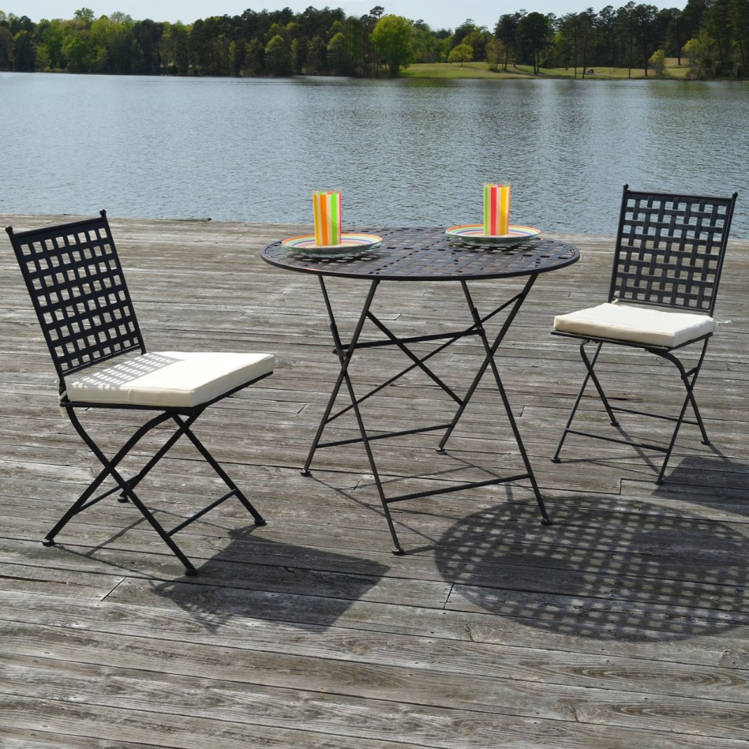 Outdoor Table 2 Chairs With Cushions Wholesale Available