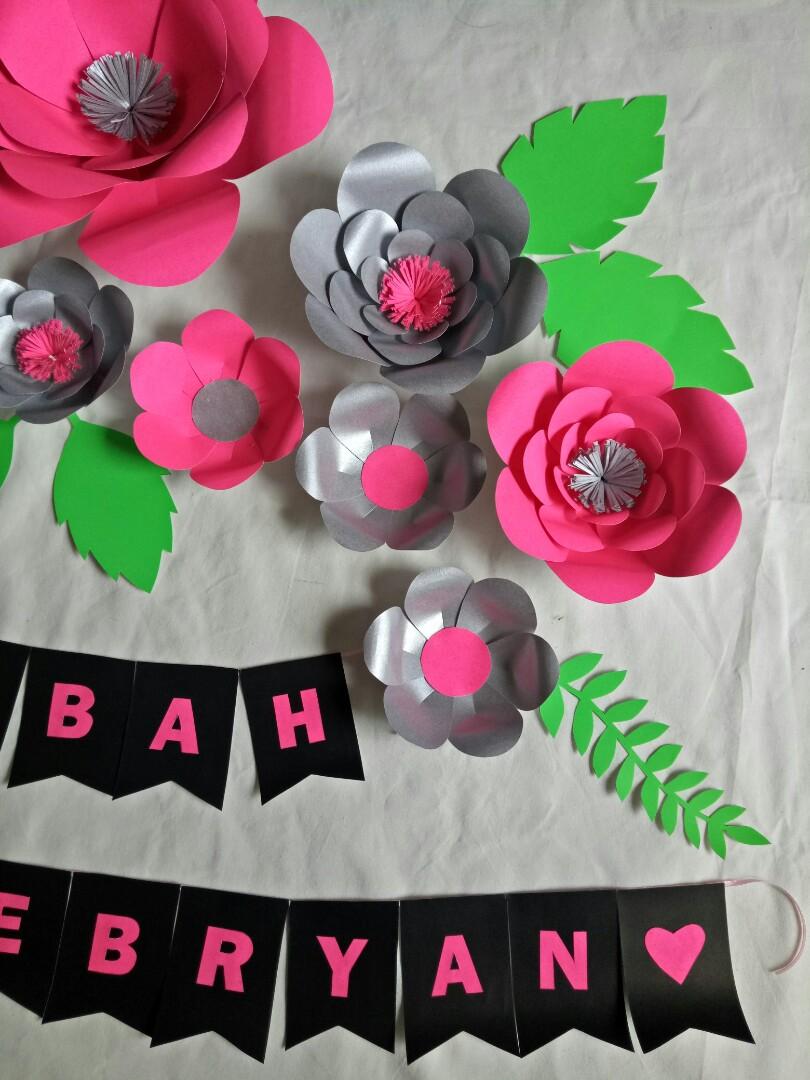 Paper flower set hemat murah dan nanyak