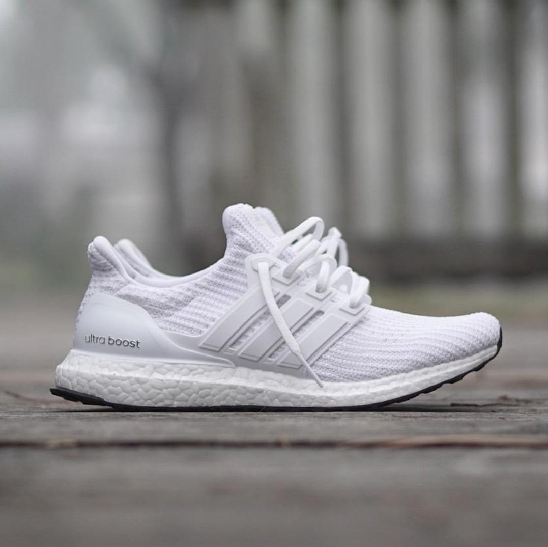 the latest b008d faff1 SALE] Adidas Ultra Boost 4.0 Tripple White, Men's Fashion ...