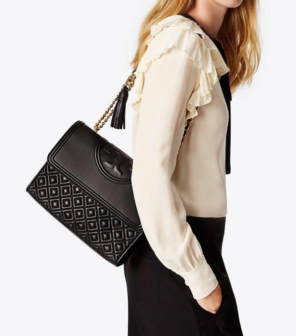 59bff8c047c Sale Tory burch black large fleming shoulder bag