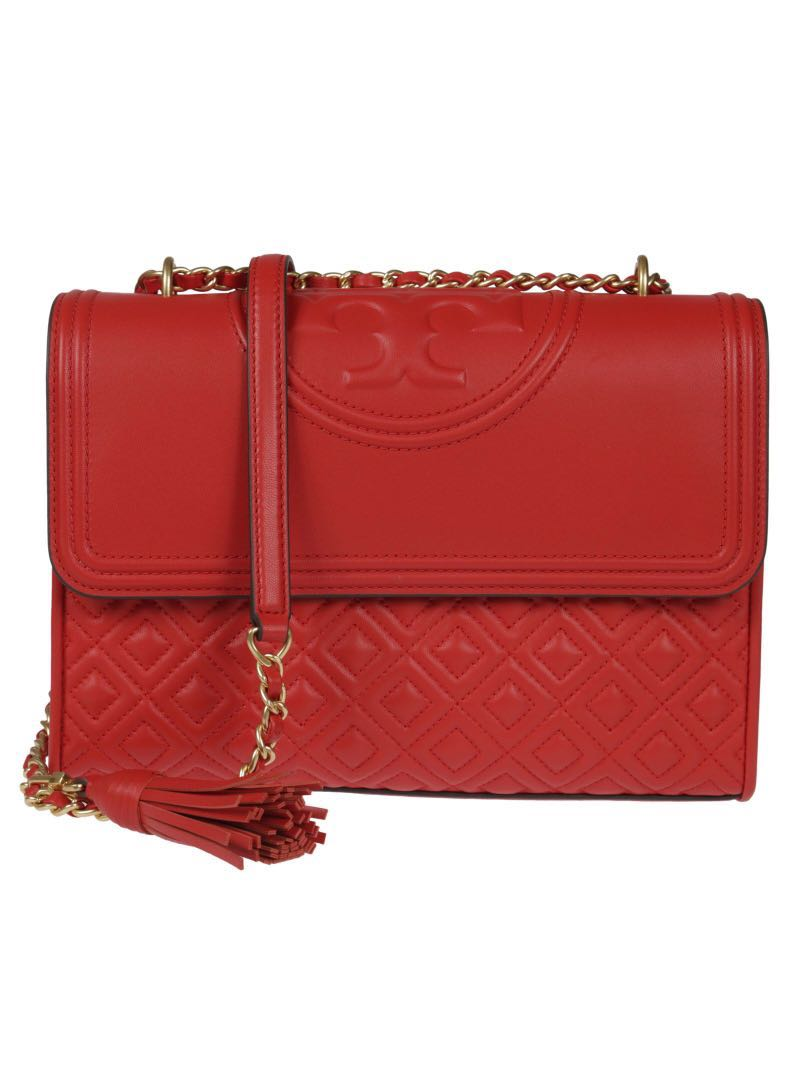 58fa58dfcda4 Sale】Tory burch fleming shoulder bag red large, Luxury, Bags ...