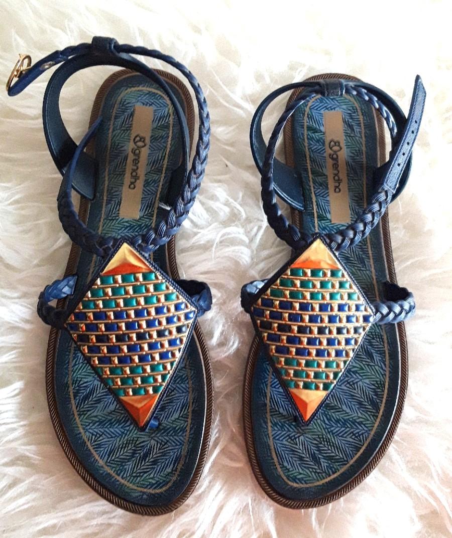 Sepatu Sandal Grendha Blue Like New 388d5e9a8d