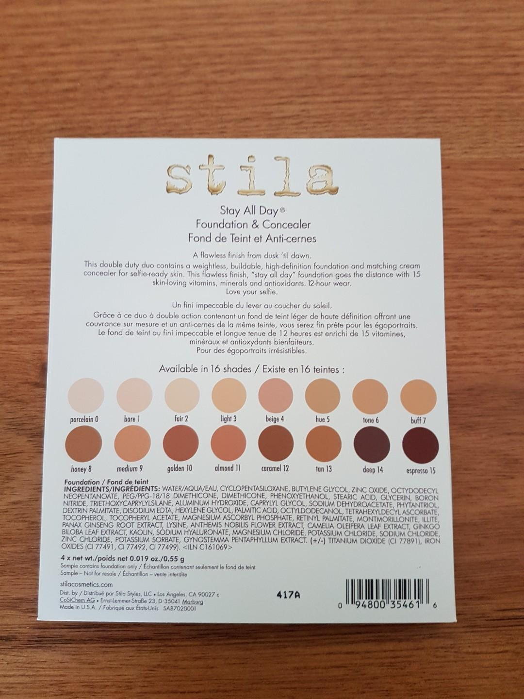 Stila stay all day foundation and concealer sample *free shipping*