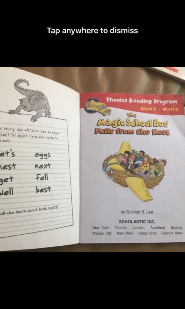 The Magic School Bus Phonics Reading Program, Books