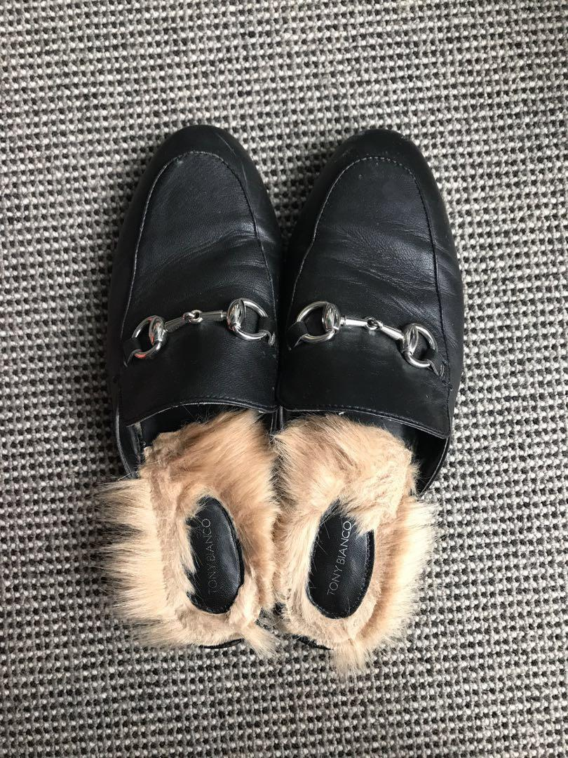 TONY BIANCO FUR SLIDES