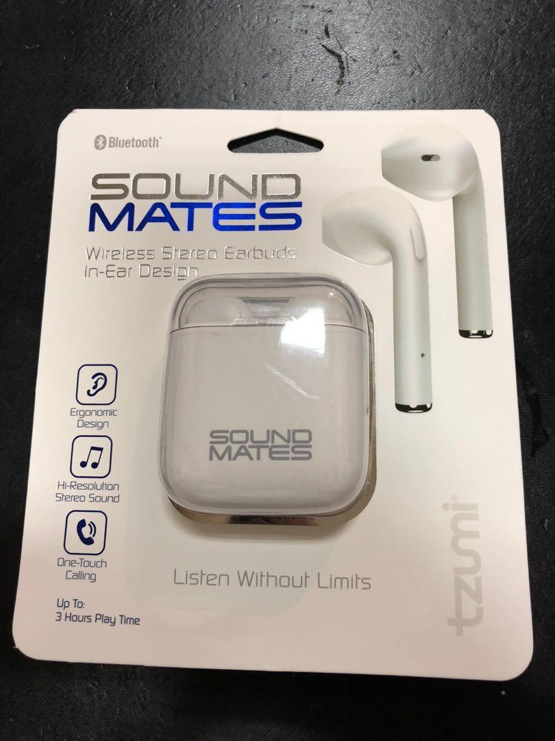 e4daa53f5ea Tzumi Sound Mates Bluetooth Earbuds with Protective Charging Case ...