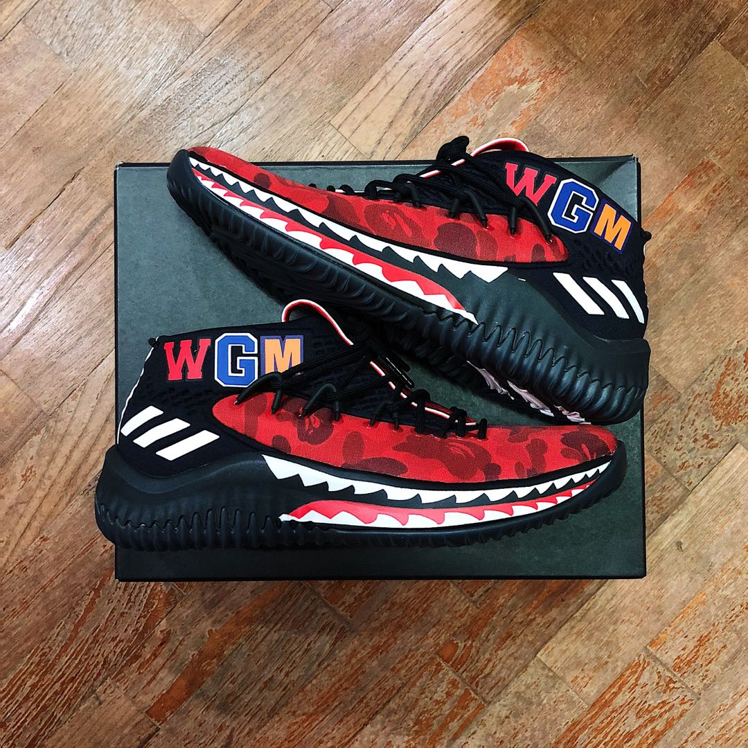 74fa849c8cc US7) Bape Dame 4 Red, Men's Fashion, Footwear, Sneakers on Carousell