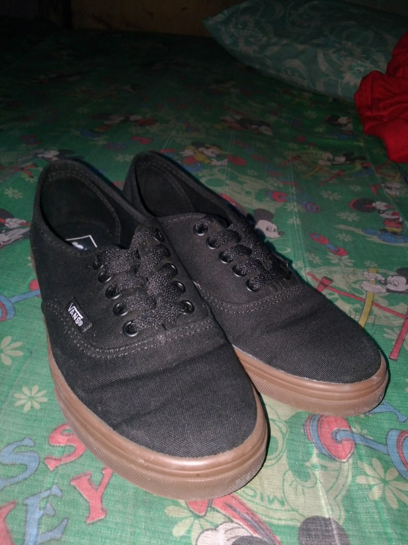 73460e50fdb5c0 Authentic Vans Lo Pro Black Gumsole