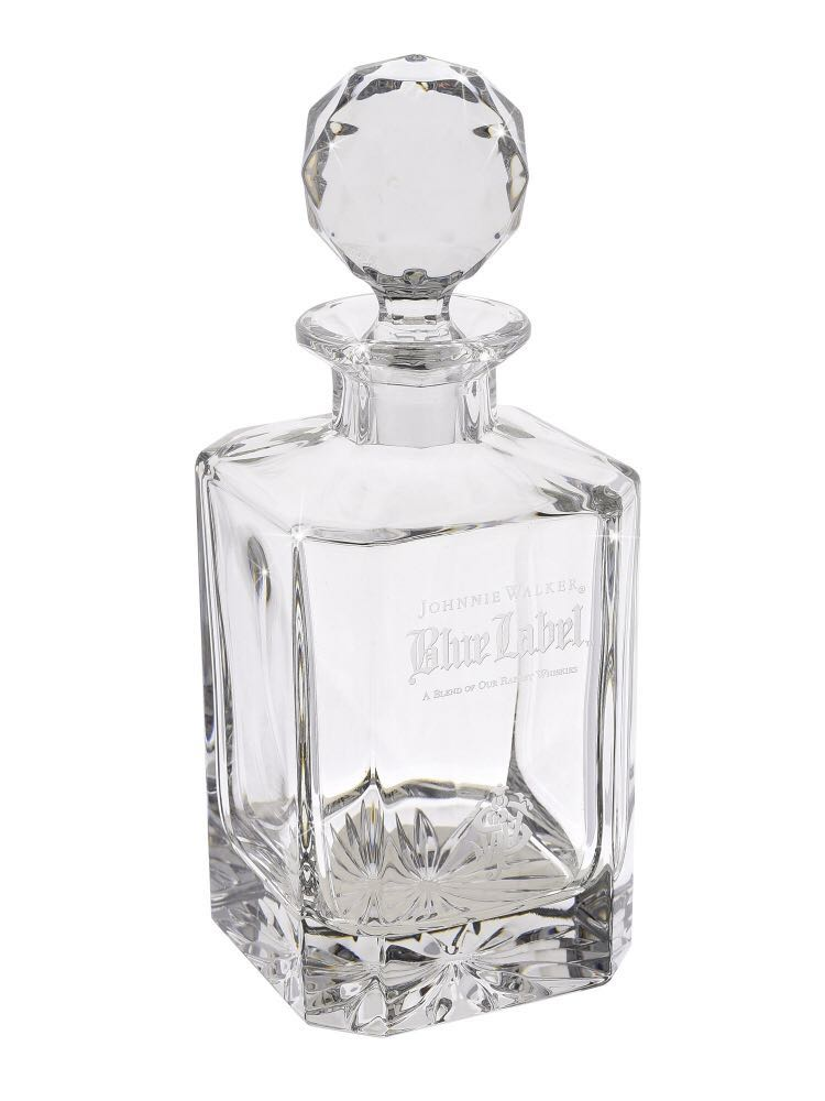 "ab1438da14d0 Whisky Decanter with 2 crystal glasses ""JW Blue limited Edition ..."