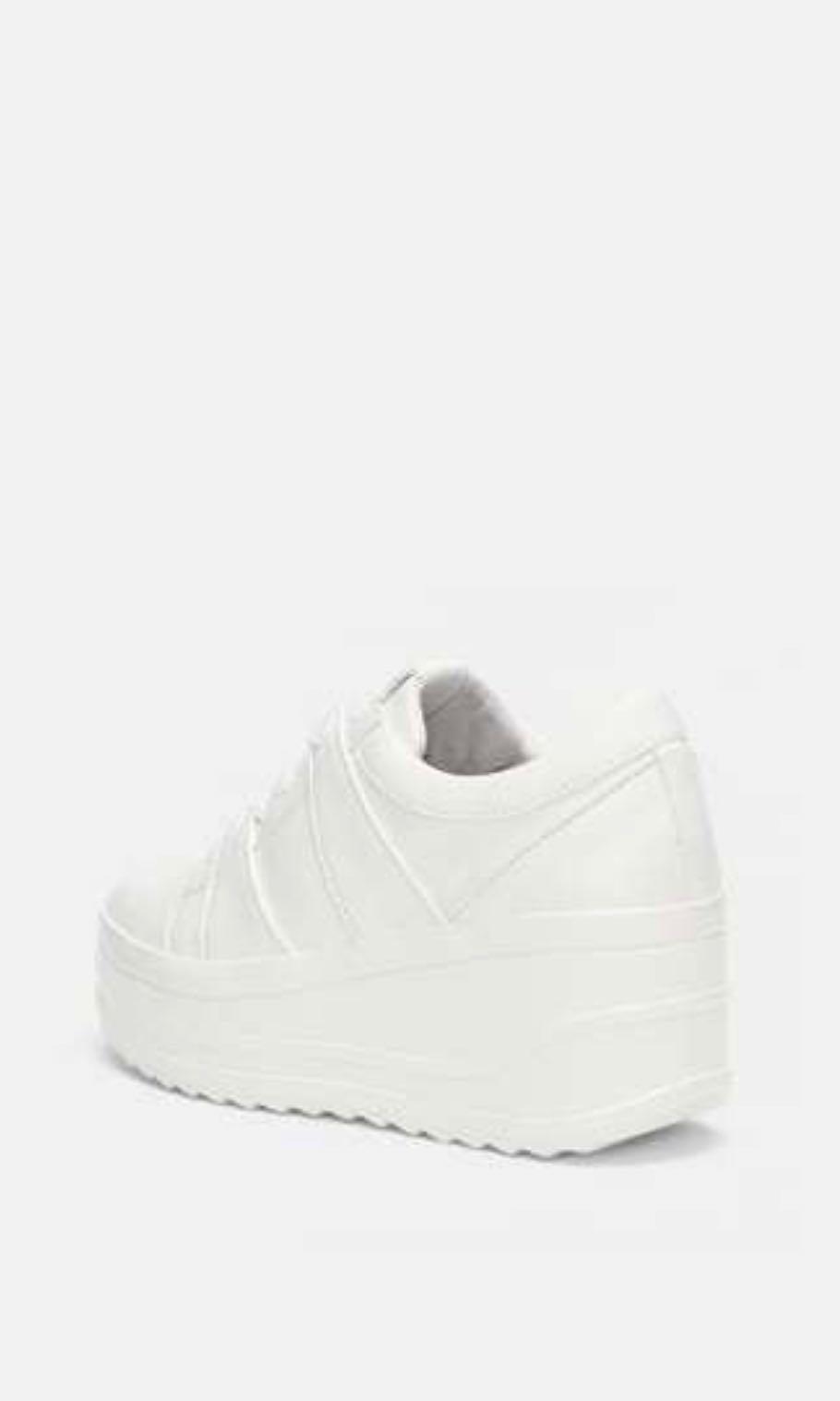 ZARA White Platform Sneakers, Women's
