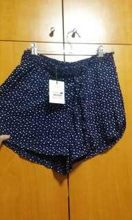 bnwt factorie dark blue cosmo dreamer high waist curve star shorts