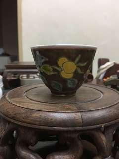 Chinese Handpaint tea cup (brown colour)