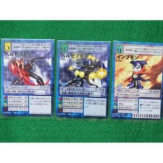 (S) 2x Beelzemon Impmon Set + Free 5 Randoms Cards