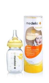 Medela breastmilk bottle with calma teat