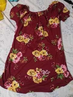 Floral Maroon Dress