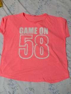 Neon Pink Tshirt Tops