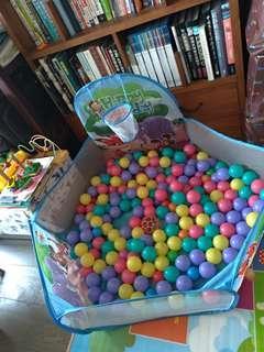 🚚 五角動物球池(含小籃框&200顆球)