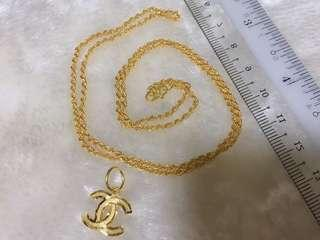 🚚 916 Gold Hollow Rope Necklace Set