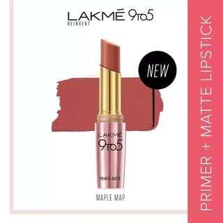 Lakme 9to5 Reinvent Primer + Matte Lip Color Lipstick - Maple Map
