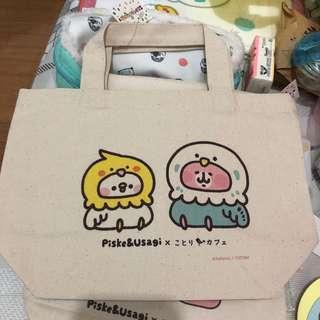 Kanahei 兔兔p助 x Kotori cafe 小tote bag