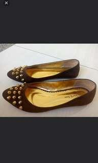 Studded Flat Shoes #oktosale