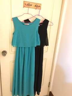 🚚 草綠紗洋裝