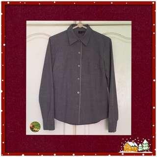 Grey Colour Shirt Blouse