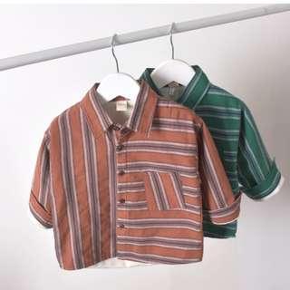 Babybitbit |Baby Boy Long Sleeve Shirt with Fleece Lining | B640