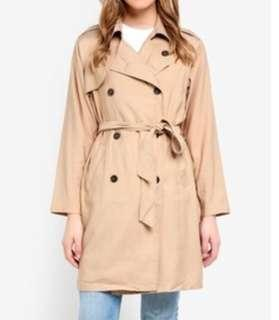 Cotton on trench coat beige nude