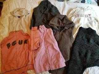Take all for $30 for Beaches area Main and Kingston road pickup or $35 for Yorkville Yonge and Church Pick up. All size Xs to med.  1.Bluenotes hoodie size M $5 2. H&M cardigan size XS $5 3. Hollister jacket hoodie size S $10 4. FCUK 5