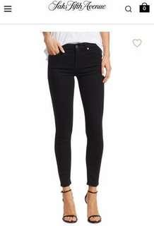 """7 For All Mankind """"The Skinny"""" Denim jeans in black size 23"""