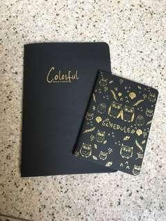 black notebooks