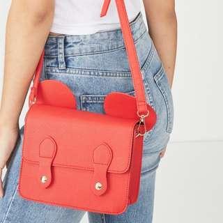[open po] typo - mini buffalo satchel bag
