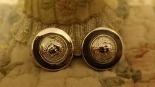 💖Gianni Versace Vintage Earrings銀色復古耳環