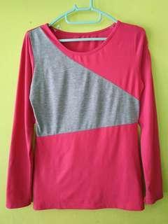 Top pink grey