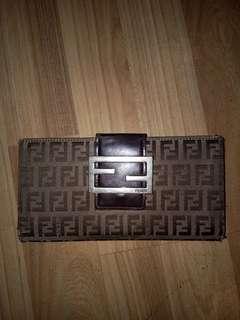 Fendi monogram long wallet