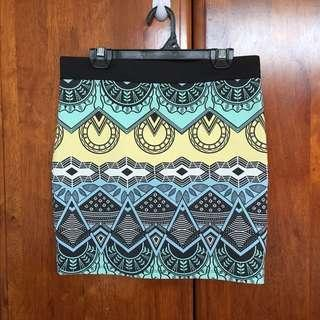 Zara Tribal Pencil skirt #oct10
