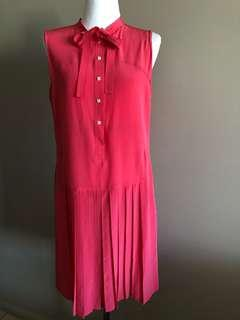Raoul silk coral dress, new, size Aus 8