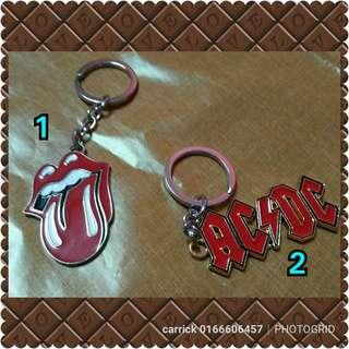Keychains band acdc rolling stones