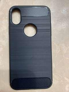 iPhone X/Xs case (Carbon fiber design blue)