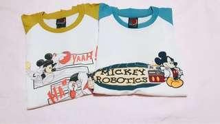 💯Auth MICKEY MOUSE Unisex Shirt ❗️Price for 2!