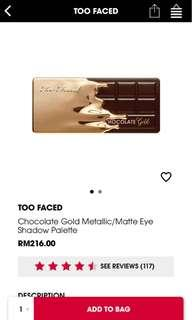 Too Faced Chocolate Gold Eye Palette