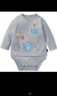 🚚 [2 PCS LEFT] Baby romper - elephant prints