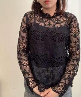 Lace top from Dotti
