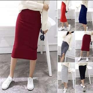 Pencil Skirt Below knee level