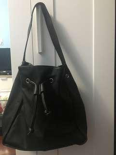 New Without Tag Black Bucket Shoulder Bag- Bought from Marshall's and never really used but is very cute!