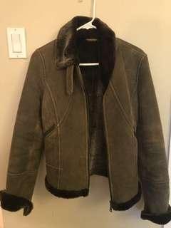 Danier Leather brown Shearling jacket