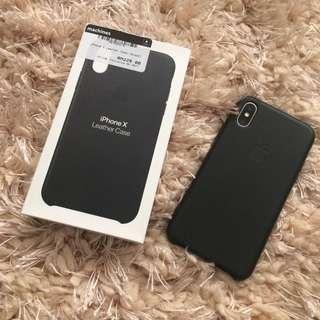 Iphone X Leather Case (Black)