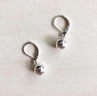 Ralph Lauren silver ball earing