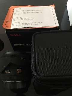 🚚 Sigma 50mm f1.4 Ex Dg for canon